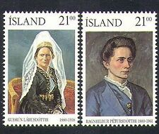 Iceland 1990 Women/Politics/Education/People 2v set (n36689)