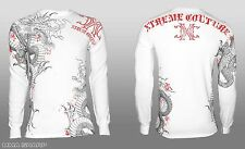Xtreme Couture by Affliction Saigon Falls Dragon Long Sleeve Tee Shirt Medium