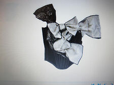 NWT $2,100 D&G DOLCE & GABBANA Runway Bow-detailed satin corset, s. EUR44 / US10