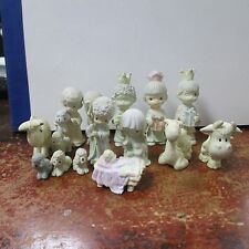 Precious Moments 1989 butcher 15 pc. MINI Nativity set