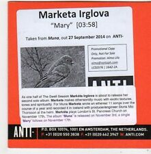 (FG25) Marketa Irglova, Mary - 2014 DJ CD