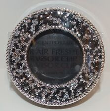 BATH & BODY WORKS BLACK RHINESTONE SCENTPORTABLE HOLDER CAR VISOR CLIP FRESHENER