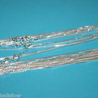 """12 pieces 925 Sterling Silver 16"""" 40cm Italian BOX 015 CHAIN Necklaces Lot"""