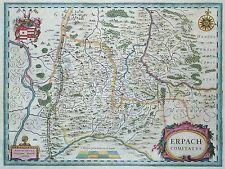 Erpach comitatus - Odenwald und Bergstraße - Willem Janszoon Blaeu - 1640
