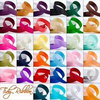 Quality Cut Lengths Satin Ribbon Double Sided 3mm 6mm 10mm 16mm 25mm 38mm Crafts
