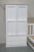 Solid Pine 2door Wardrobe in White