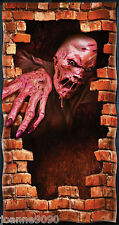 HALLOWEEN MELTING ZOMBIE DOOR HORROR COVER POSTER DECORATION BRICKS SCENE SETTER