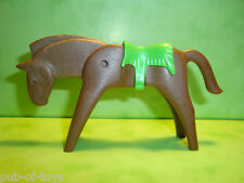 Playmobil: cheval avec selle playmobil / Horse with saddle geobra 1974