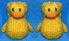KNITTING PATTERN - Duck Booties to fit 3 - 6 month old Baby