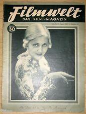 Filmwelt  Das Film-Magazin Heft 31/1930 Brigitte Helm Corinne Griffith Lew Ayres