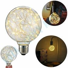 Vintage Edison LED Light Retro Bulb G95 Spiral Globe 3W Warm White 2200K E27 ECO