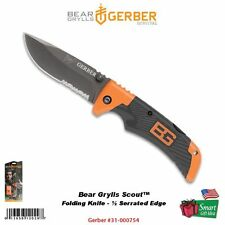 Gerber Bear Grylls Scout Folding Clip Drop Pt Knife Survival Series #31-000754