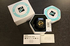 New Casio Baby G Shock Watch BA110-1A Womens Watch Black/Gold Metallic Face