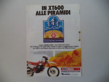 advertising Pubblicità 1986 MOTO YAMAHA XT 600 4V ALLE PIRAMIDI