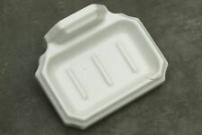 Antique White American Ironstone Wall Mount Bath Soap Slab Soap Dish 1880-1920's