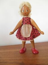 Stunning Vintage- WOODEN DOLL - 1950S / 1960s Polish Wood Doll