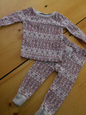 Burt'S Bees 6-9M *Outfit/Set* Organic Cotton Set Ivory w/Cranberry Bee Pattern