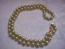 """JOAN RIVERS Pale Green Simulated Pearl Necklace 30"""""""