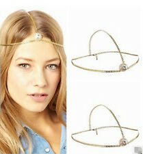 Boho Womens Charming Elegant Rhinestone Head Chain Headband Hair Band Headwear