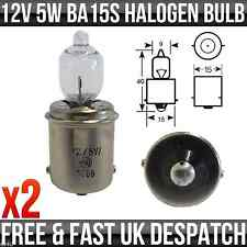 12v 5w SCC BA15s Halogen Interior Caravan Light, Motorhome Light - R467 x2