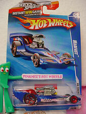 2010 Hot Wheels MADFAST #152 US Win☆Racing Blue☆flame☆ red oh5☆HW Racing