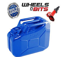 BLUE 10L Litre JERRY MILITARY CAN FUEL OIL WATER KEROSENE WATER WITH SPOUT