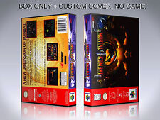 MORTAL KOMBAT 4. Box/Case. Nintendo 64. BOX + COVER. (NO GAME).