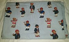 Ralph Lauren Full Flat Sheet Polo Striped Bear Fabric Teddy 100% Cotton