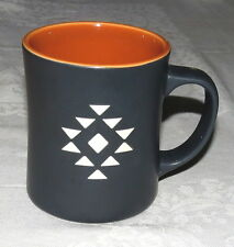 Starbucks 2012 Guatemala Antigua Blend Mug Black White pattern Orange inside