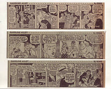 Gasoline Alley by Dick Moores - 24 large daily comic strips from October 1966