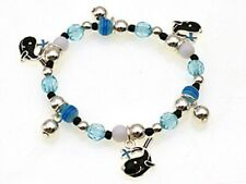 Childrens Blue Beaded Stretch Bracelet With Whale Charms
