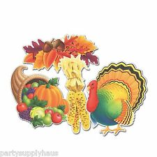 Fall THANKSGIVING Autumn CUTOUTS (4 COUNT) Party CLASSROOM Office Decorations