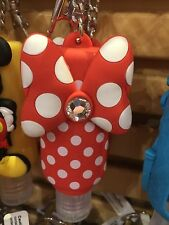 disney parks keychain keyring hand sanitizer minnie bow 1oz new with tags