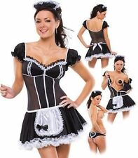 SEXY NAUGHTY Halloween Waitress MAID COSTUME OUTFIT PARTY FANCY DRESS TUTU HEN