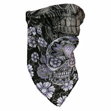 Bike Sugar Skull Blumen Totenkopf 4 in 1 Face Mask Bandana Road Wrap Neck Warmer
