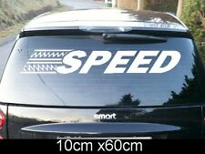 SPEED Adesivo Decalcomania Auto Scritta Lunotto posteriore smart vw bmw 60x10cm