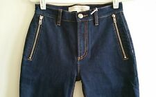 MARC BY MARC JACOBS Womens Dark Blue High-waisted Skinny Jeans size 25 NEW