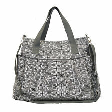 The Stratus Diaper Bag by White Elm - Black- Coated Canvas Baby Mommy Nappy Tote