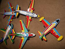 SET AIRPLANE 1970's METAL, PLASTIC  FRICTION MINT MADE IN JAPAN S 3-1/2 inches
