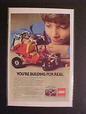RARE OLD LEGOS ~LEGO TOY BUILDING SET DUNE BUGGY CAR PRINT AD~ VINTAGE ORIG 1982