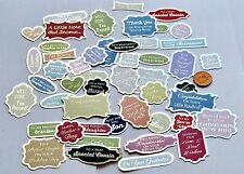Hunkydory 30 Foiled Essential Sentiments Card Toppers