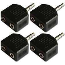 3.5mm Mini Jack Plug to 2 Sockets Stereo Headphone Splitter Adaptor x 4