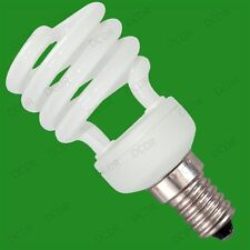 8x 14W Low Energy CFL Mini Spiral Light Bulbs; E14, Small Screw, SES, UK Stock