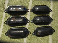 6 vintage drawer pulls bin cup handle statuary bronze finish steel set 1 rusty
