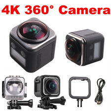 16MP 4K HD 30fps 360 Degree Panoramic Action Camera Waterproof Built-in WIFI DVR