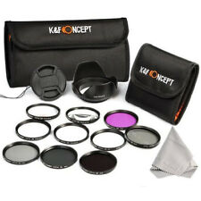 58mm UV CPL FLD + ND 2 4 8 Filter Kit + Macro Close Up Set for Canon Nikon Lens