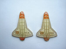 SALE VINTAGE NASA SPACE SHUTTLE DISCOVERY USA MOON ROCKET MISSION PIN BADGE 99p