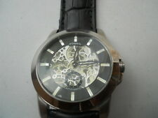 Fossil Men's Automatic black Leather Analog,dress & water resistant watch.