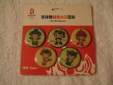 Olympic magnets 2008 Mascot Beijing New Acrylic Official Licensed