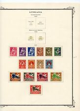 Lithuania Lot#B, SC# 70//222 MH on (5) Pages, (64) Issues from 1920-1927/